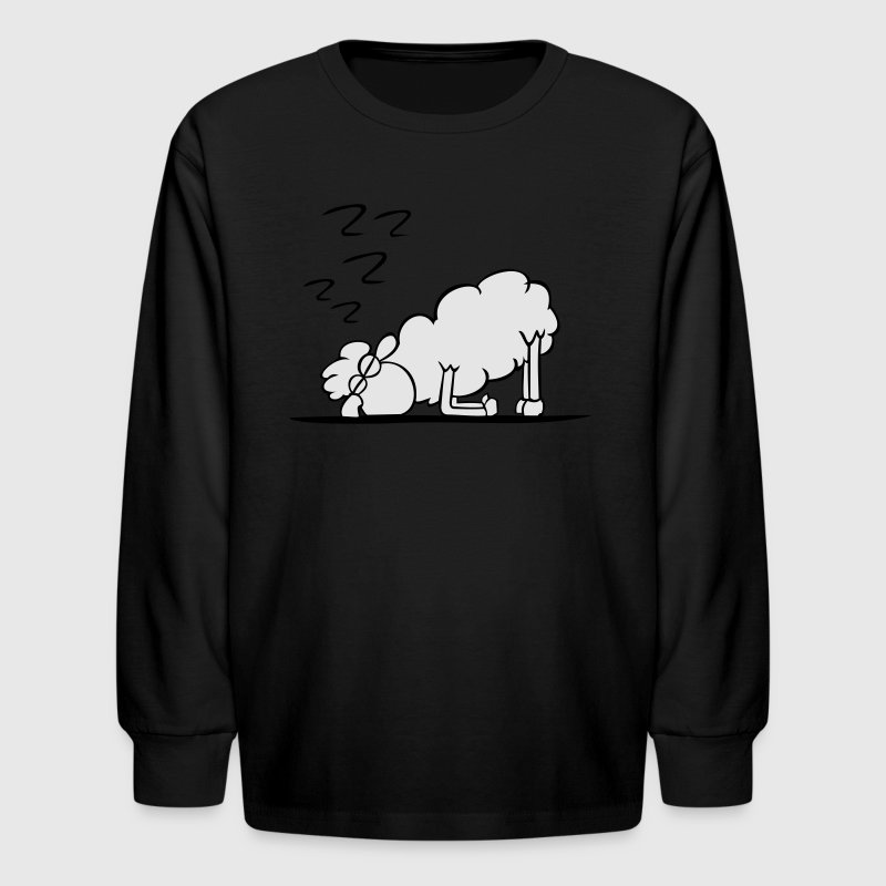 Red sheep sleeping Kids' Shirts - Kids' Long Sleeve T-Shirt