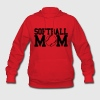Red Softball Mom Design Hoodies - Women's Hoodie