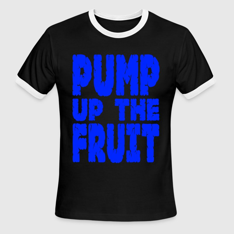 Black/white Pump Up The Fruit T-Shirts - Men's Ringer T-Shirt