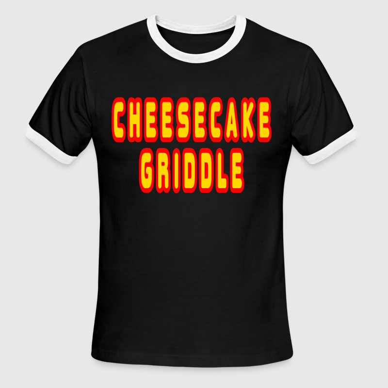 White/red Cheesecake Griddle T-Shirts - Men's Ringer T-Shirt