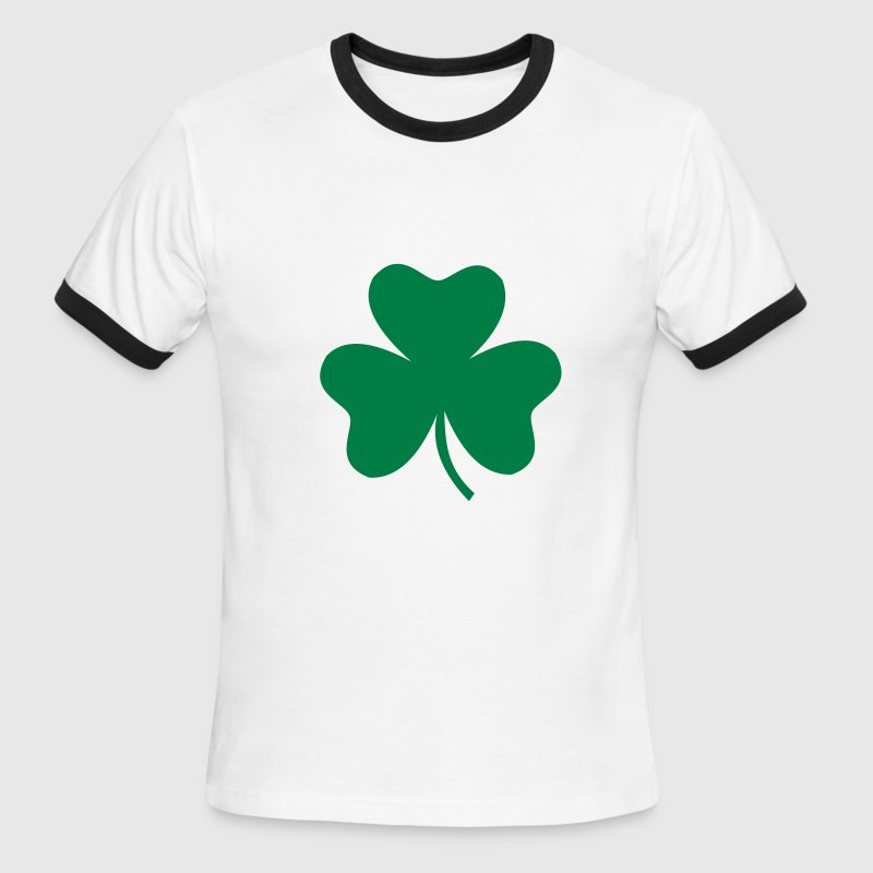Green/white Shamrock T-Shirts - Men's Ringer T-Shirt