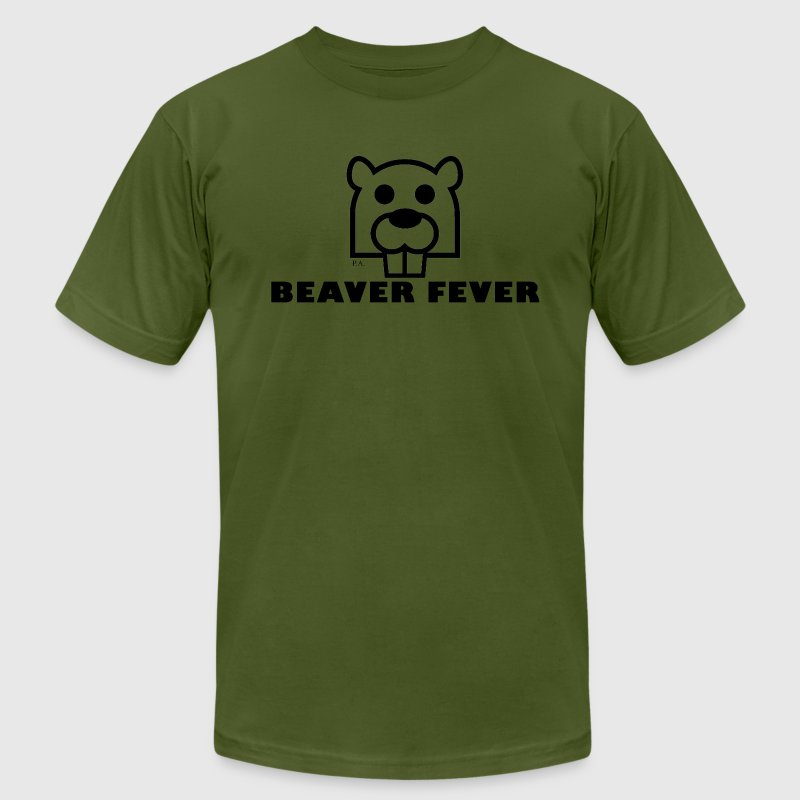 Olive beaver fever T-Shirts - Men's T-Shirt by American Apparel