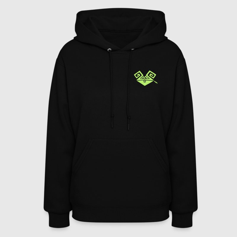 Black Psychedelic Rabbit (smoking a joint) Hoodies - Women's Hoodie