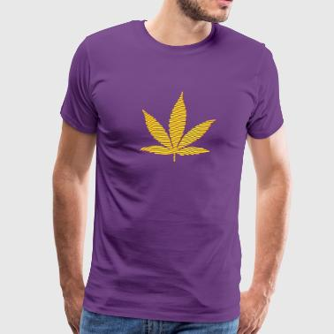 Light pink Cannabis Leaf (stripes, 2colors) Hoodies - Men's Premium T-Shirt