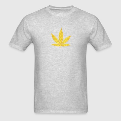 Brown Cannabis Leaf (stripes, 2colors) Long Sleeve Shirts - Men's T-Shirt