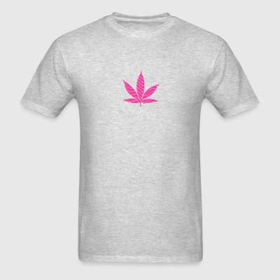 Brown Cannabis Leaf (striped, pure) Long Sleeve Shirts - Men's T-Shirt