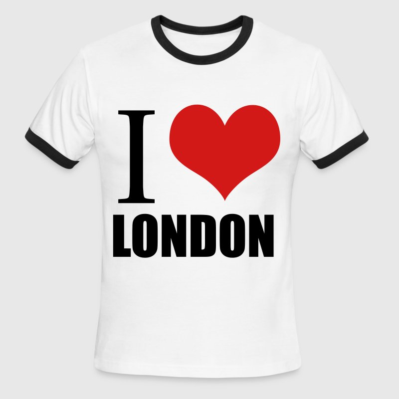 White/black i love london T-Shirts - Men's Ringer T-Shirt