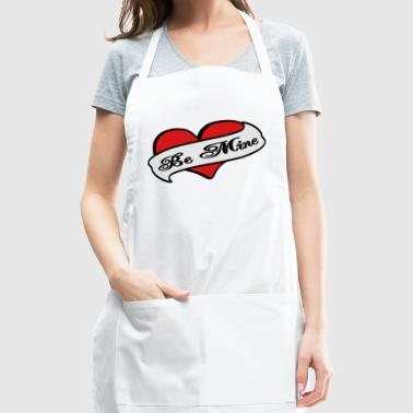 Creme Be Mine Heart Banner Tattoo Bags  - Adjustable Apron
