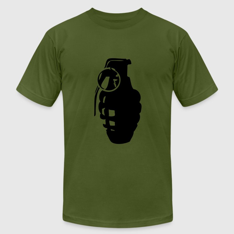 Olive grenade vector T-Shirts - Men's T-Shirt by American Apparel