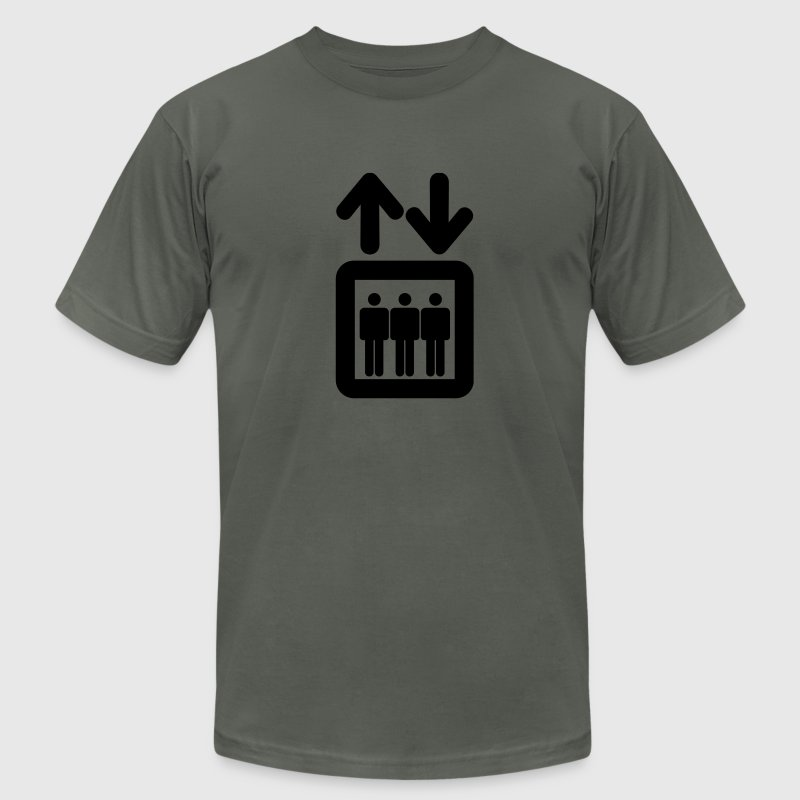 Asphalt elevator T-Shirts - Men's T-Shirt by American Apparel