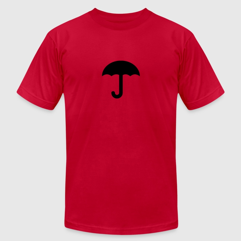 Red umbrella-rain-weather-storm T-Shirts - Men's Fine Jersey T-Shirt