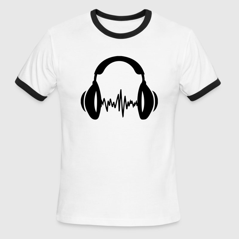 White/black music T-Shirts - Men's Ringer T-Shirt