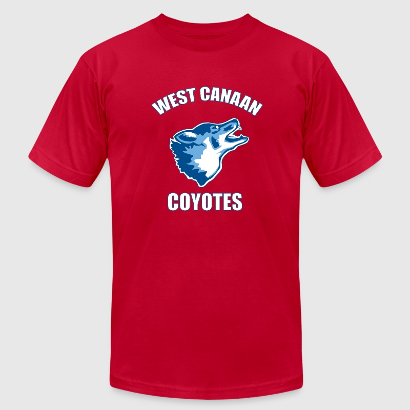 West Canaan Coyotes T-Shirts - Men's T-Shirt by American Apparel