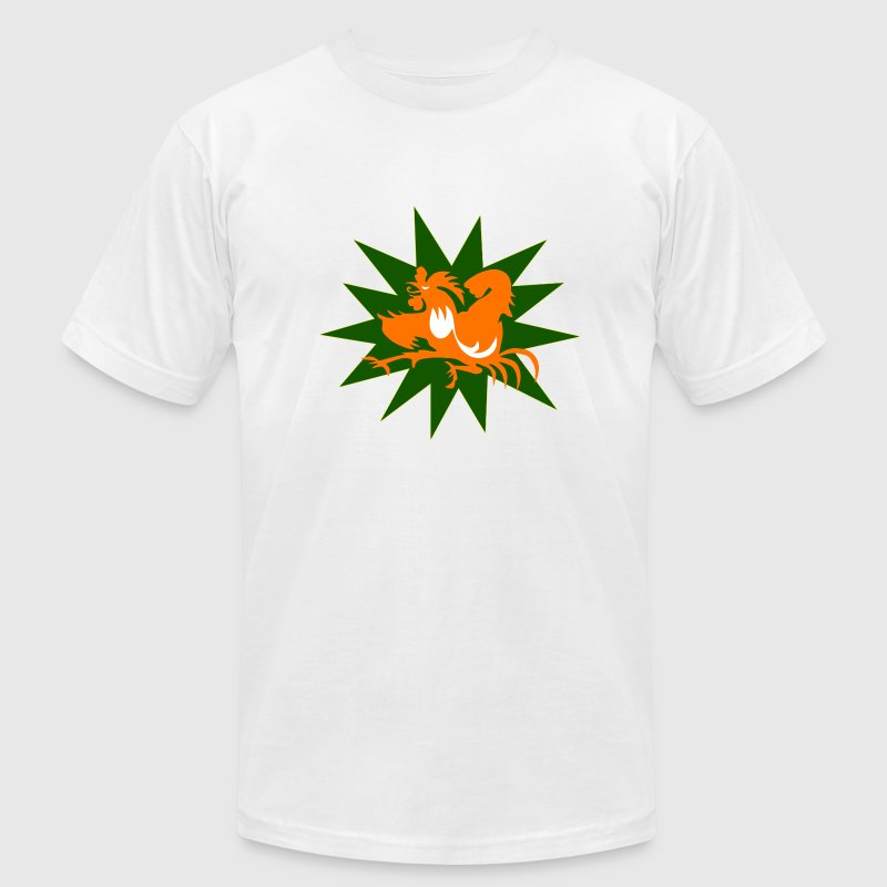 White Irish Cockpuncher T-Shirts - Men's T-Shirt by American Apparel