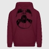 Burgundy shut up Hoodies - Men's Hoodie