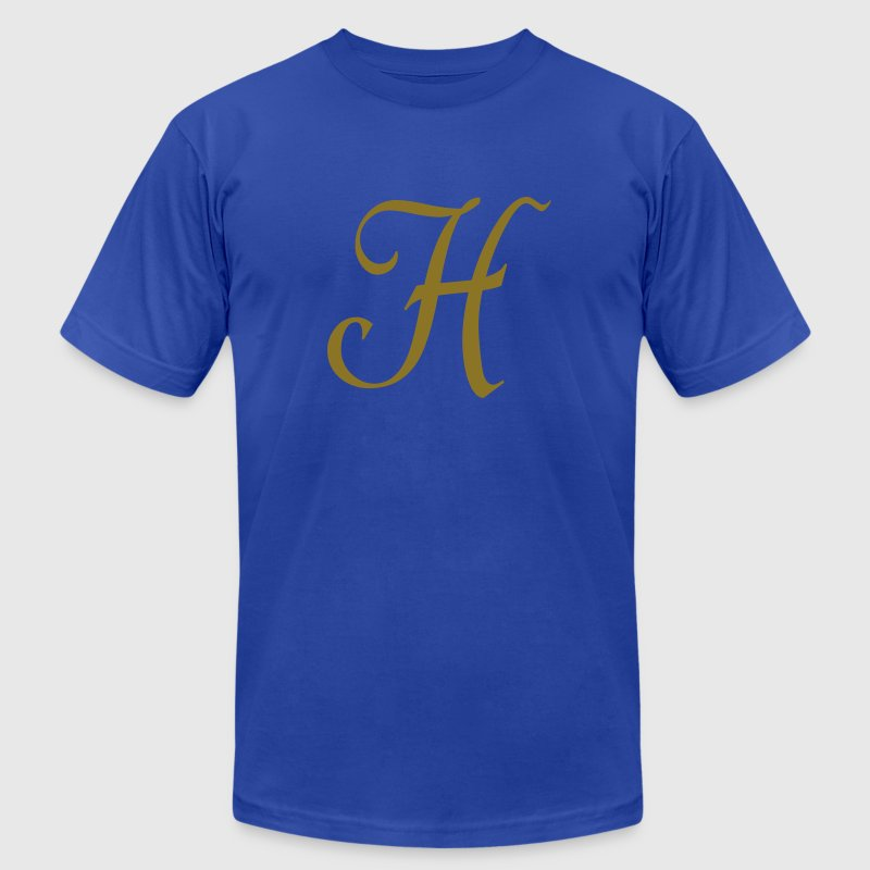 Royal blue H - Letter T-Shirts - Men's T-Shirt by American Apparel