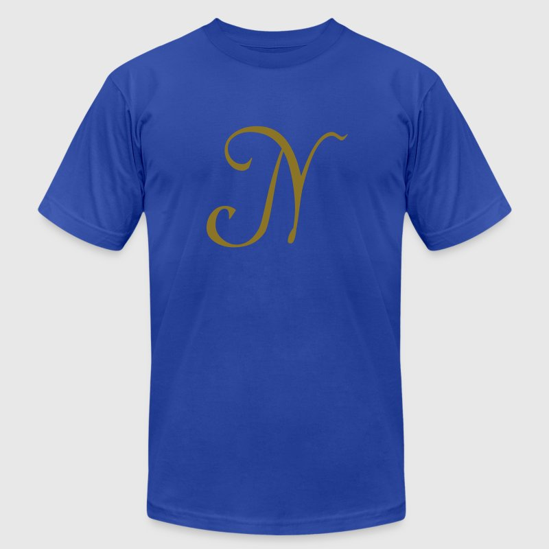 Royal blue N - Letter T-Shirts - Men's T-Shirt by American Apparel