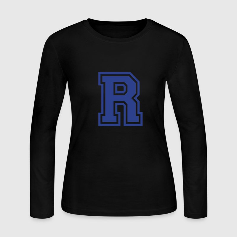 Chocolate Letter R Long Sleeve Shirts - Women's Long Sleeve Jersey T-Shirt