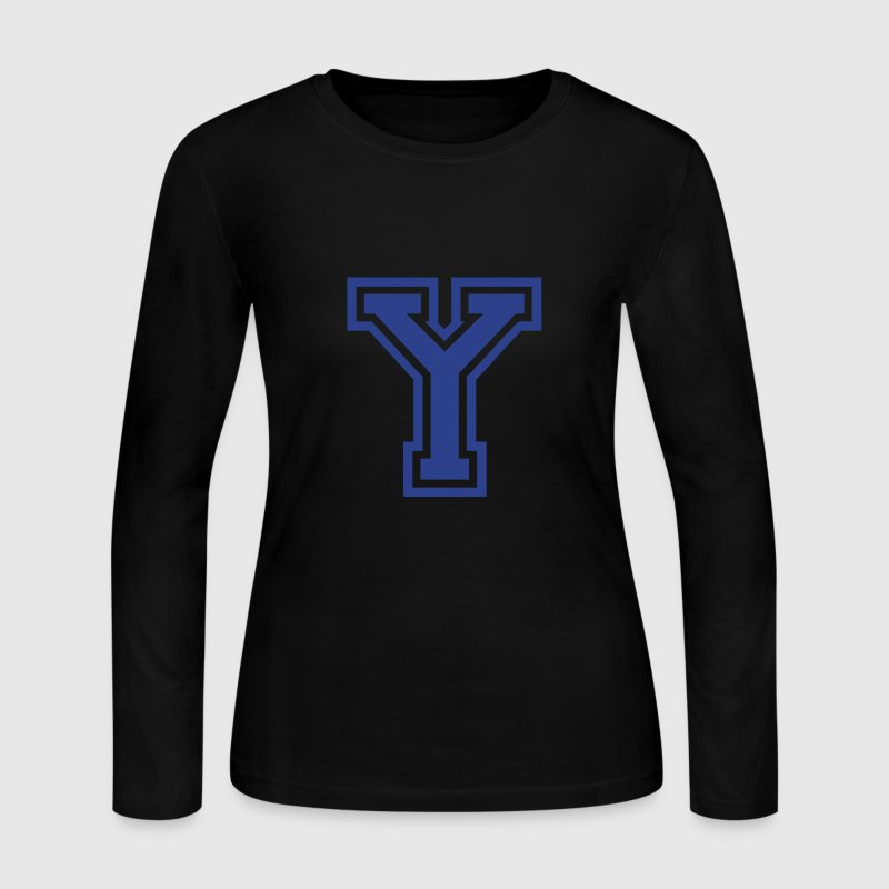 Chocolate Letter Y Long Sleeve Shirts - Women's Long Sleeve Jersey T-Shirt