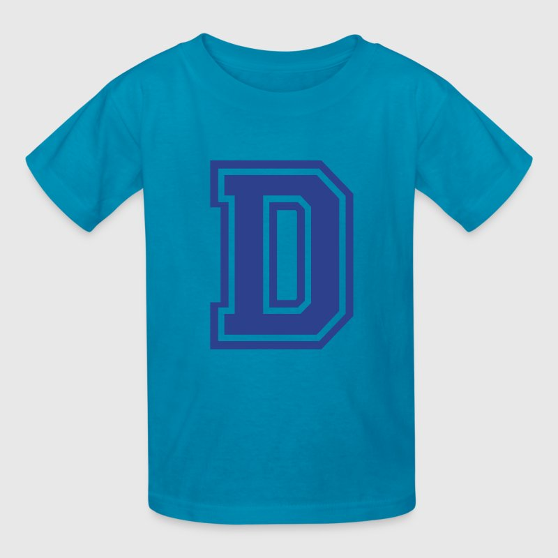 Yellow Letter D Kids' Shirts - Kids' T-Shirt