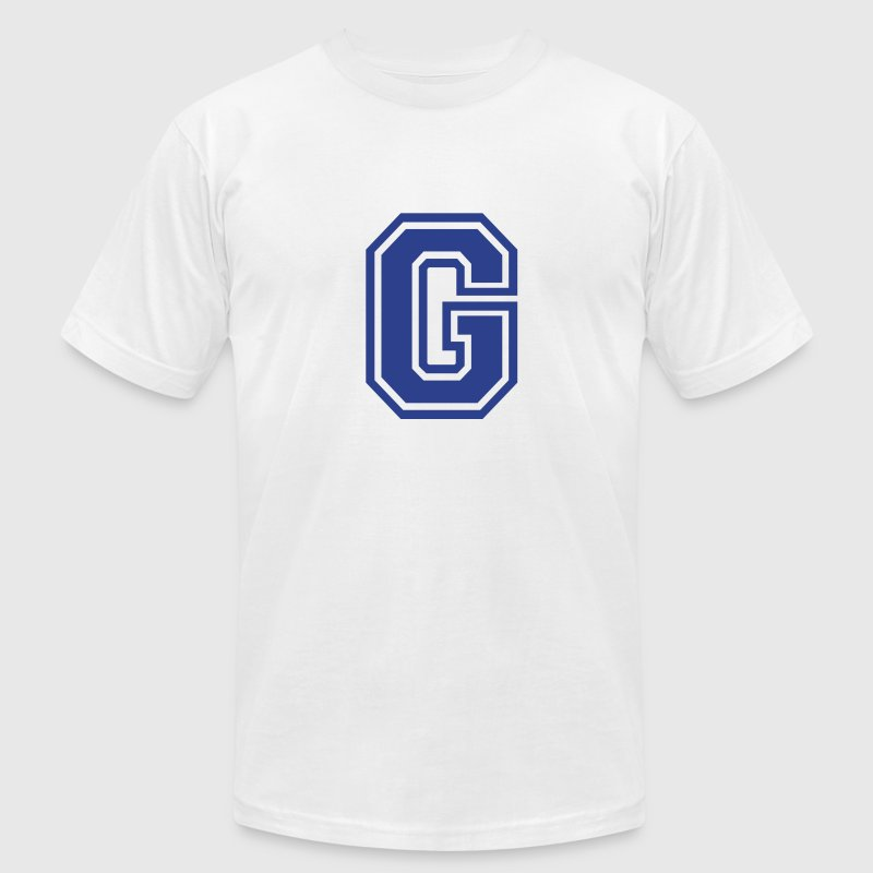 Gold Letter G T-Shirts - Men's T-Shirt by American Apparel