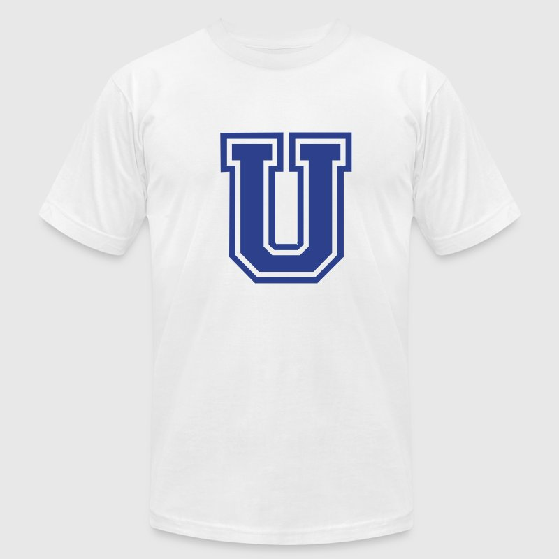 Gold Letter U T-Shirts - Men's T-Shirt by American Apparel