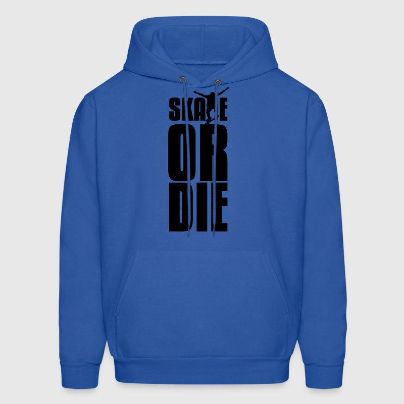 Royal blue skate or die Hoodies - Men's Hoodie