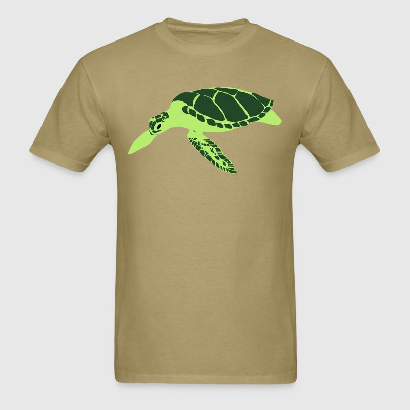 Khaki ENDANGERED SPECIES deep sea turtle T-Shirts - Men's T-Shirt