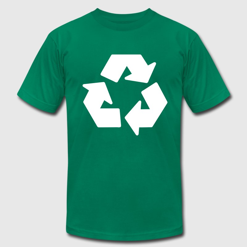 Kelly green recycle T-Shirts - Men's T-Shirt by American Apparel