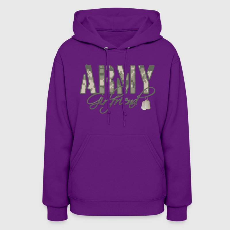 Light pink Army Girlfriend- Dog Tags Hoodies - Women's Hoodie