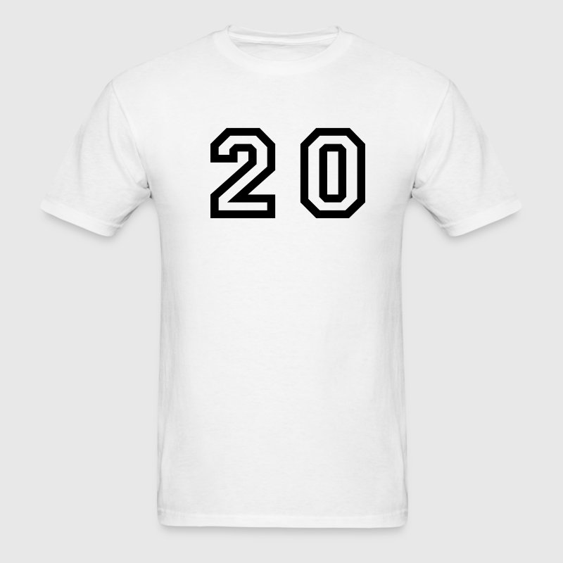 White number - 20 - twenty T-Shirts - Men's T-Shirt
