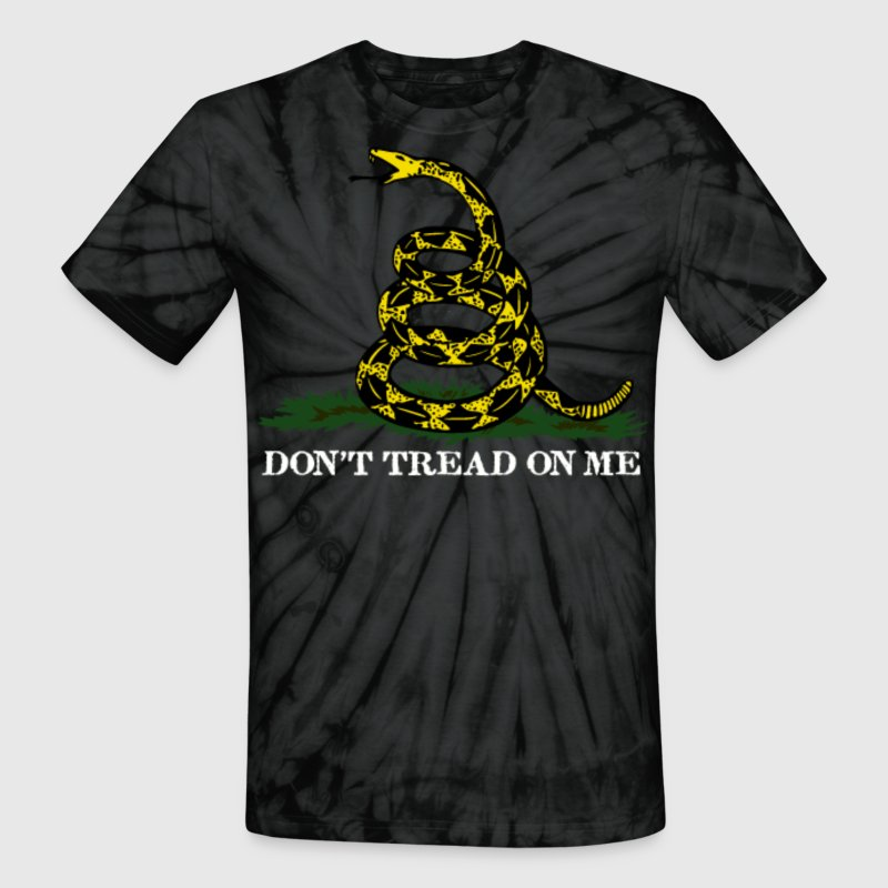 Spider black Don't Tread On Me T-Shirts - Unisex Tie Dye T-Shirt