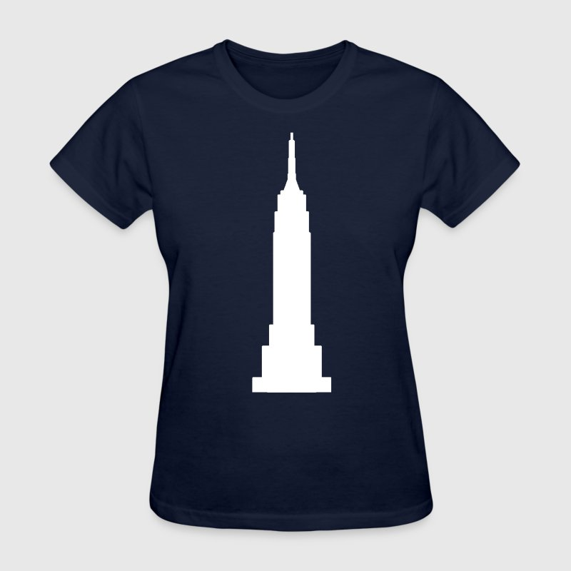 Navy Empire State Building White  Women's T-Shirts - Women's T-Shirt