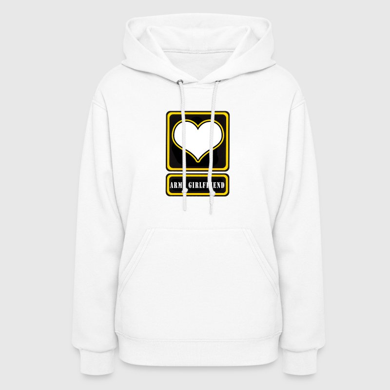 White US Army Girlfriend Logo Hoodies - Women's Hoodie