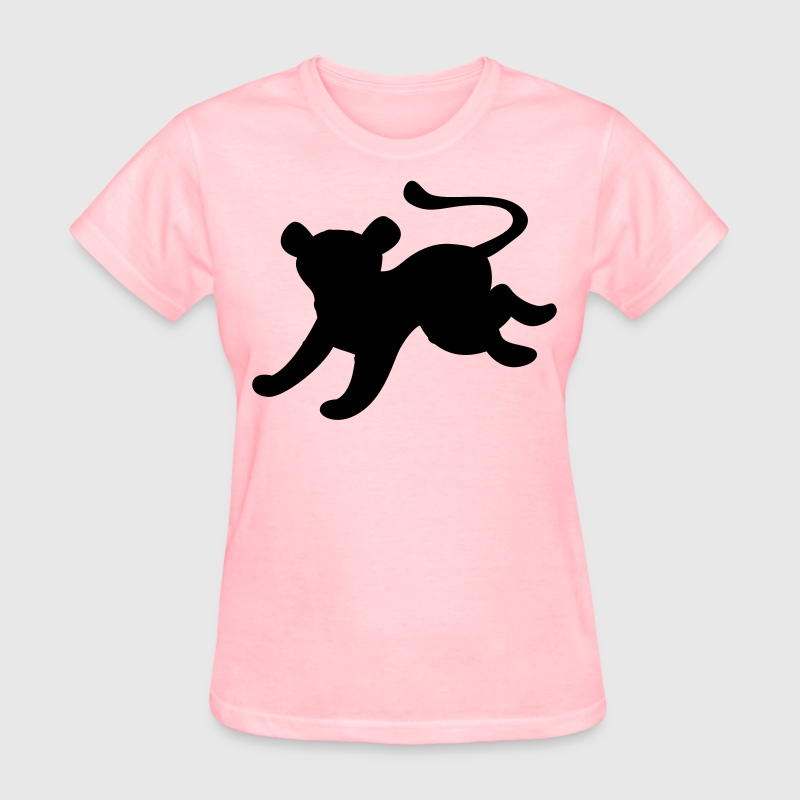 cat jaguar cool jumping shape T-Shirt | Spreadshirt
