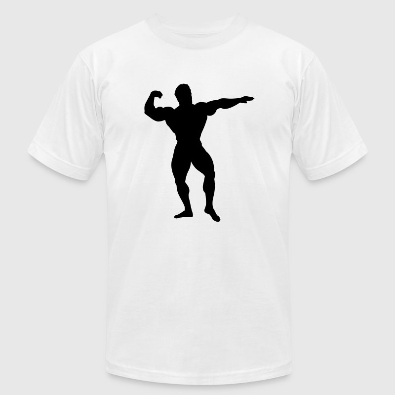 White bodybuilder T-Shirts - Men's T-Shirt by American Apparel