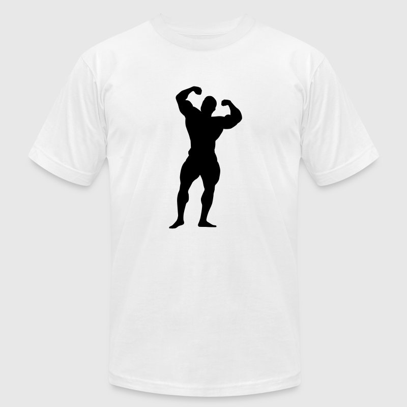 White body building T-Shirts - Men's T-Shirt by American Apparel