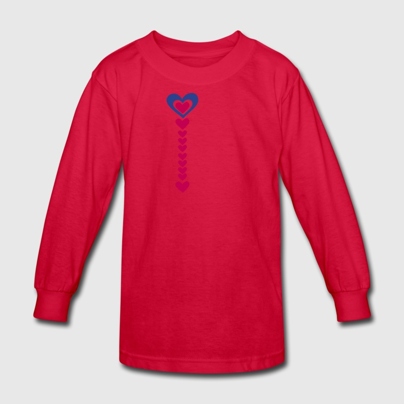 love arrow pointing down Long Sleeve Shirt | Spreadshirt