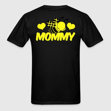 Powder blue love mommy cute bee honey Long Sleeve Shirts - Men's T-Shirt