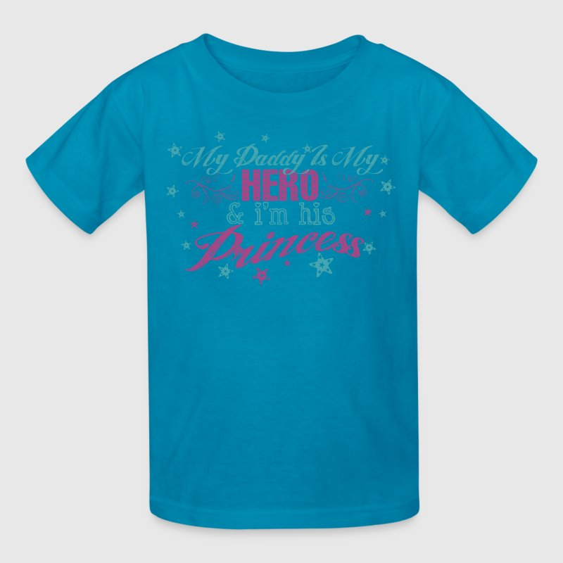 Classic pink My Daddy Is My Hero & I'm His Princess Kids' Shirts - Kids' T-Shirt