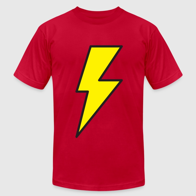 Red lightning bolt T-Shirts - Men's T-Shirt by American Apparel