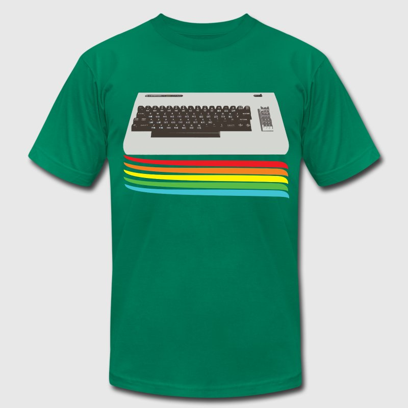 Kelly green keyboard (commodore vic 20) T-Shirts - Men's Fine Jersey T-Shirt