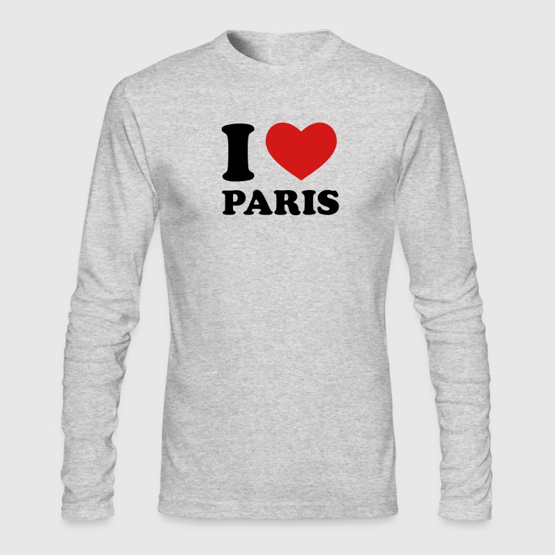White I Love Paris Long Sleeve Shirts - Men's Long Sleeve T-Shirt by Next Level