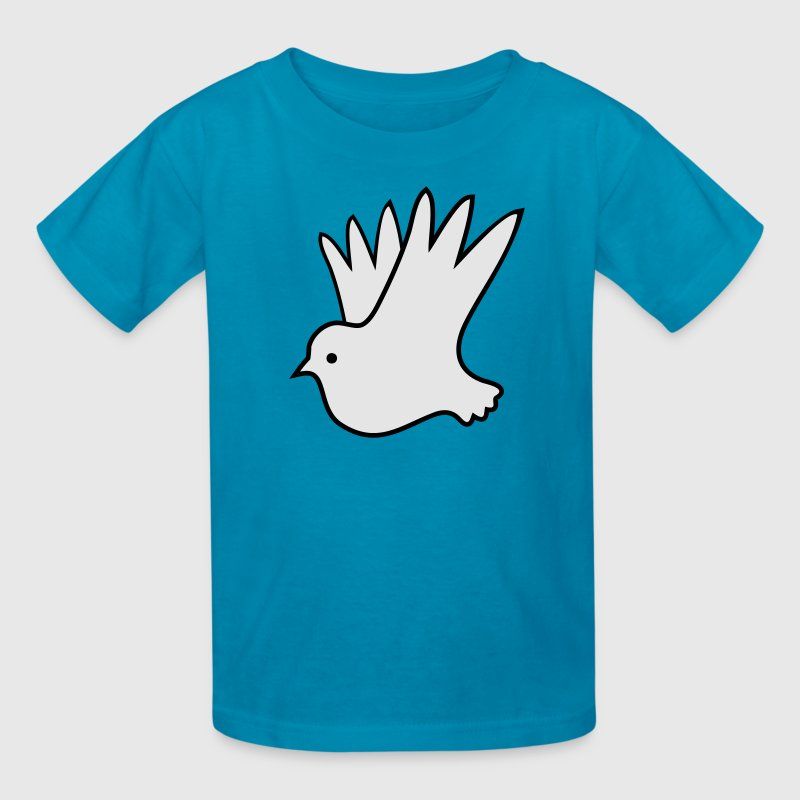 Turquoise peace dove pretty world peace Kids' Shirts - Kids' T-Shirt