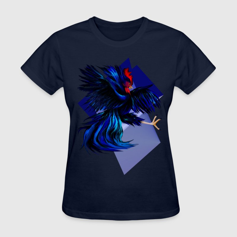 Black Fighting Rooster - Women's T-Shirt