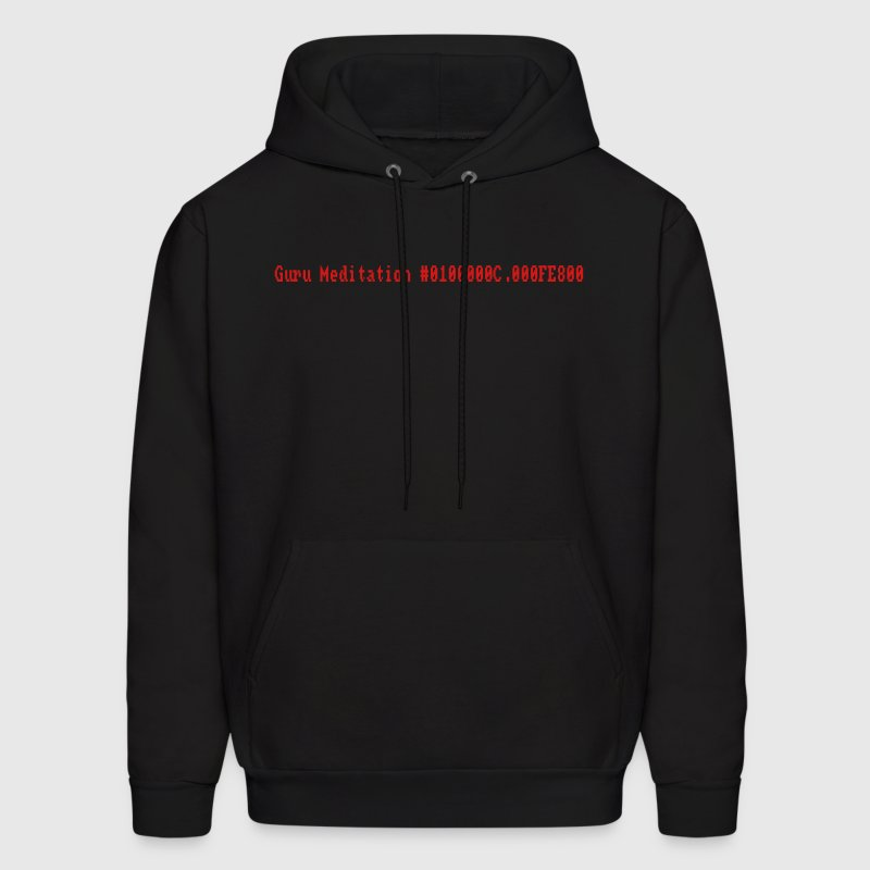 Black Guru Meditation Hoodies - Men's Hoodie