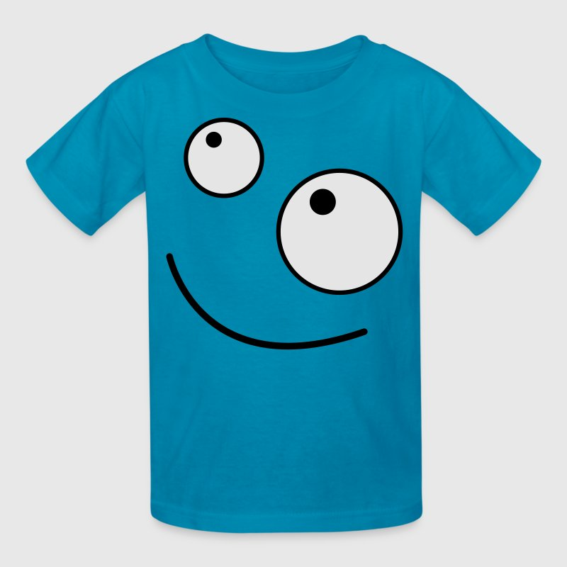 Orange FUNNY FACE looking up Kids' Shirts - Kids' T-Shirt