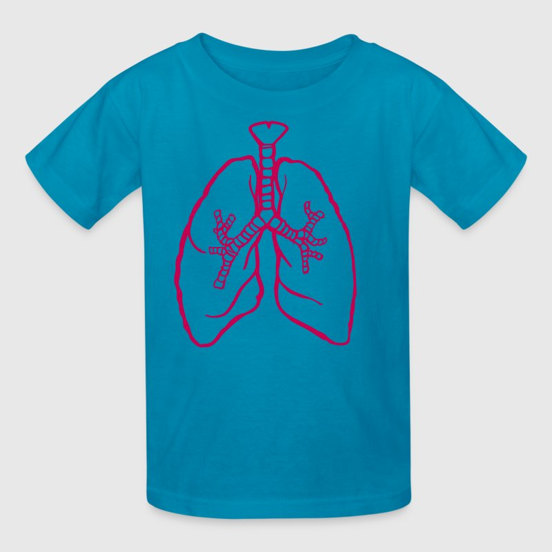 Classic pink LUNGS breathe breath lung rough Kids' Shirts - Kids' T-Shirt