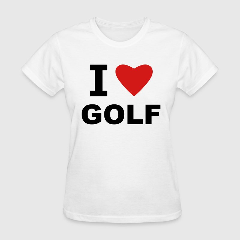White I love Golf Women's T-Shirts - Women's T-Shirt