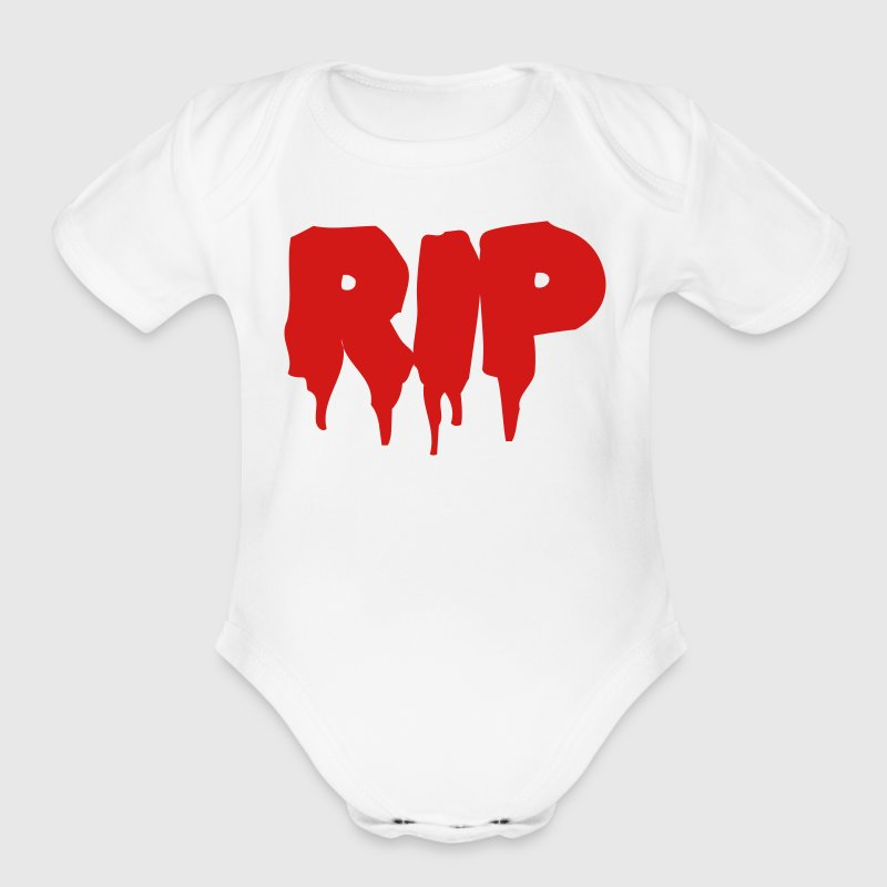 White RIP in BLOOD Baby Body - Short Sleeve Baby Bodysuit